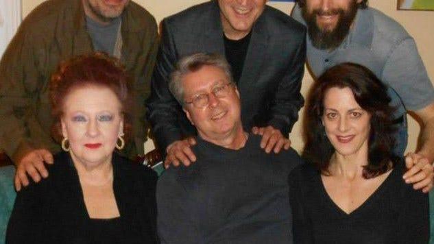 Cast of Dreamland Bus: from top left: Louie Podlaski, Gregory Ludek, Peter Allen Nancy Fancher, Peter Elliott, Diane Chevron