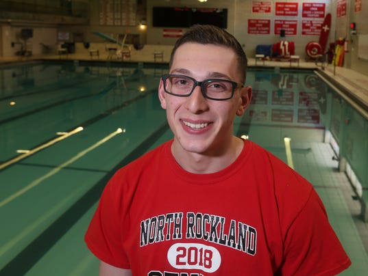 Jared Finn, North Rockland swimming