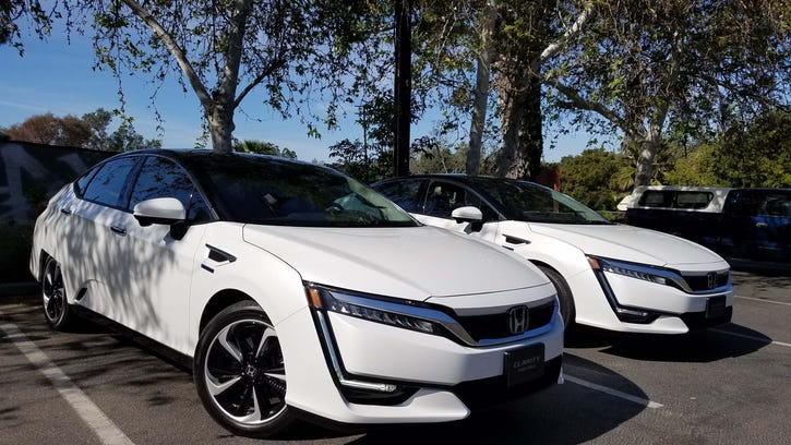Honda's California-exclusive Clarity Fuel Cell leases for $369 a month, but a state rebate and free hydrogen fill-ups cut that to $69, Henry Payne says.