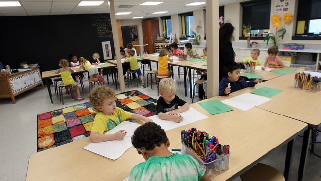 Iowa City Schools is firing Lucas Elementary's before and after school program provider. Lucas Elementary's art room is pictured on Thursday, Aug. 31, 2017.