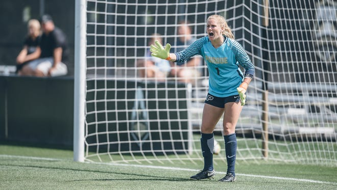 Purdue freshsman goalkeeper Katie Luce has presided over a 265-minute shutout streak entering this weekend's games at Wisconsin and Minnesota.
