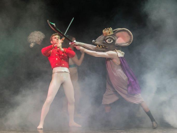 The Nutcracker Prince (Andrew Zuwala) and Rat King