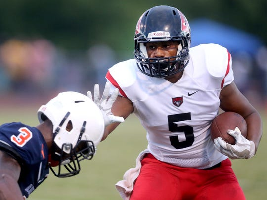 Stewarts Creek and running back Ke'shawn Walker (5) will try to rebound from a week 1 loss to Overton when the Red Hawks battle Smyrna at home Friday.