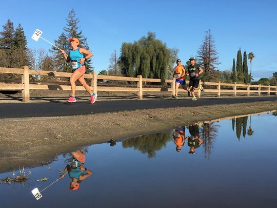 The End of the Trail Half Marathon was held in downtonw Visalia this year. The route took participants along the Santa Fe Trail and through Mooney Grove Park. Organizers said more than 400 people turned out for the race, and roughly $5,000 will be given to local high school running programs.