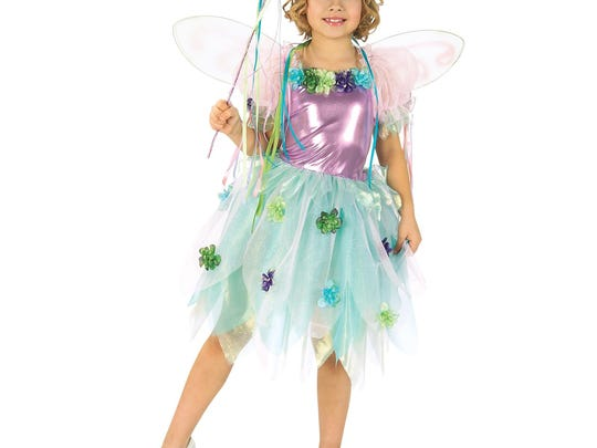 This garden fairy costume includes a dress, wings, headpiece and wand. $46.99 at halloweenexpress.com.