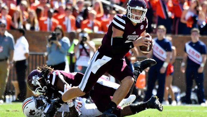 Quarterback Nick Fitzgerald completed better than 50 percent of his passes last week against Kentucky, but it was the first time the Bulldogs lost when he did so.