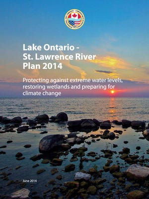 The cover of the 2014 lak-leve plan adopted by the International Joint Commission that regulates water levels in Lake Ontario.