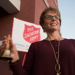 Sue Violet, is a regular volunteer bell ringer for the Salvation Army and spends many hours during the holiday season outside the Gulf Breeze Publix collecting donations.