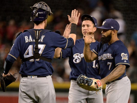 Brewers celebrate victory