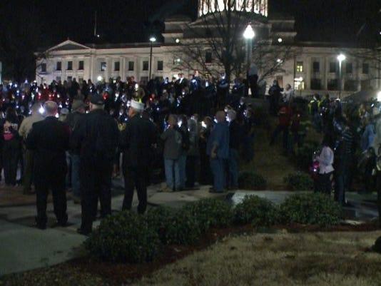 Vigil held for firefighter Lt. Jason Adams