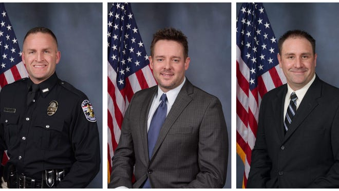 The three Louisville Metro Police Department officers who fired their guns at Breonna Taylor's apartment: Brett Hankison, Jonathan Mattingly and Myles Cosgrove. On Wednesday, Brett Hankison was indicted on three counts of first-degree wanton endangerment.