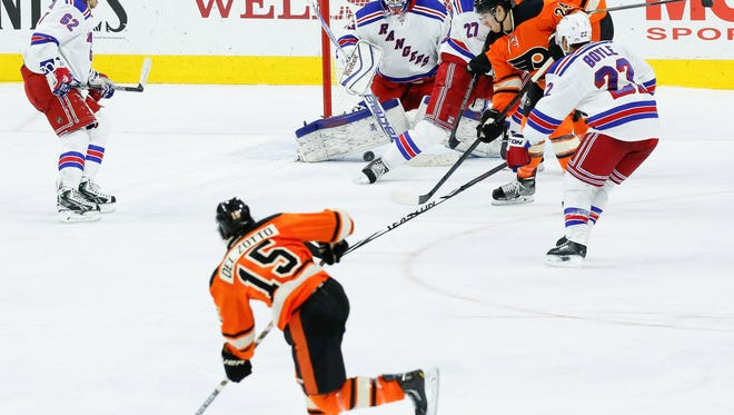 Cam Talbot blanked the Flyers 3-0 last time they visited Philly.