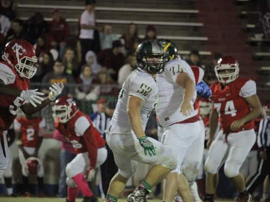 Shane Carney (52) was a standout on the offensive and defensive line for Northwest this season. He was named All Area Defensive Player of the Year.
