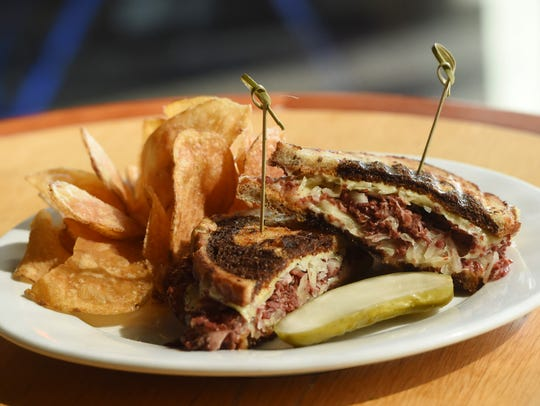 The Reuben sandwich, one of the dishes available at