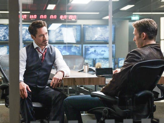 Tony Stark (Robert Downey Jr.) has a heart-to-heart