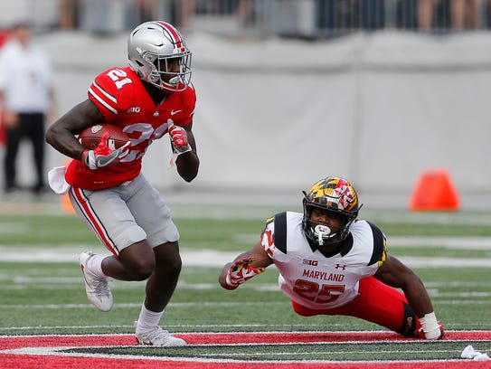Ohio State H-back Parris Campbell finds plenty of room