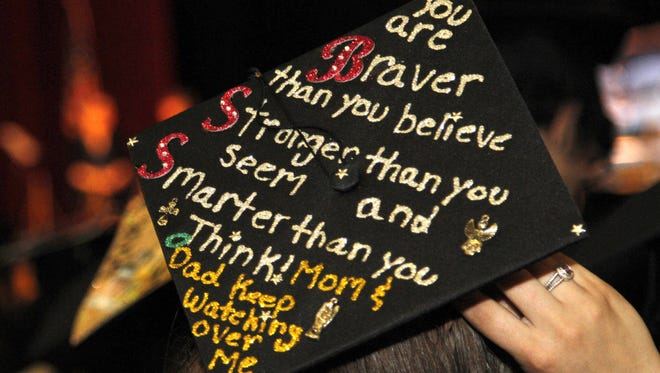 A grad at Westchester Community College had a lot to say Thursday at commencement at the Westchester County Center in White Plains.