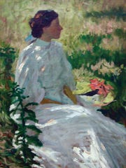 Charles Webster Hawthorne, A Study in White, ca. 1900, oil on canvas.