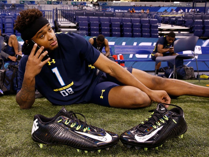 LSU's Jamal Adams rests up before working out with