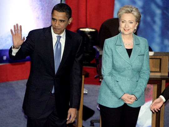 Barack Obama and Hillary Clinton prepare to begin their