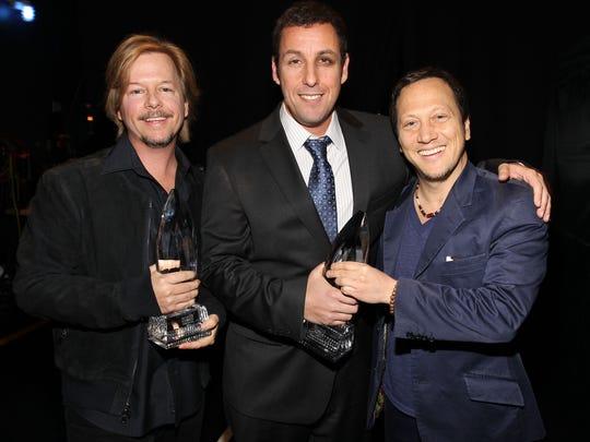 Actors David Spade, Adam Sandler and Rob Schneider