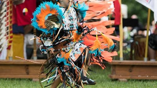 Levi Moore dances at the 2015 Pow Wow.