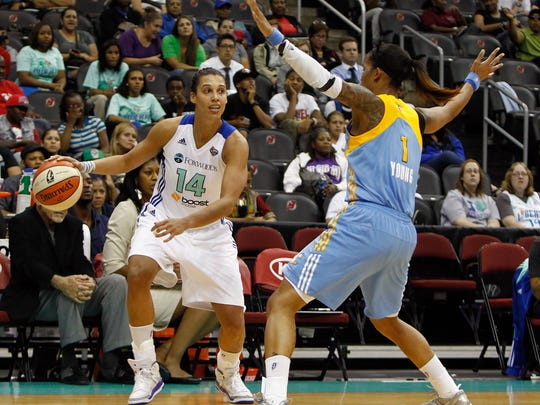 New York Liberty forward Nicole Powell play