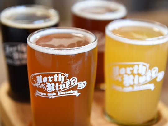 A fight of beers from North River Hops and Brewing in Wappingers Falls.