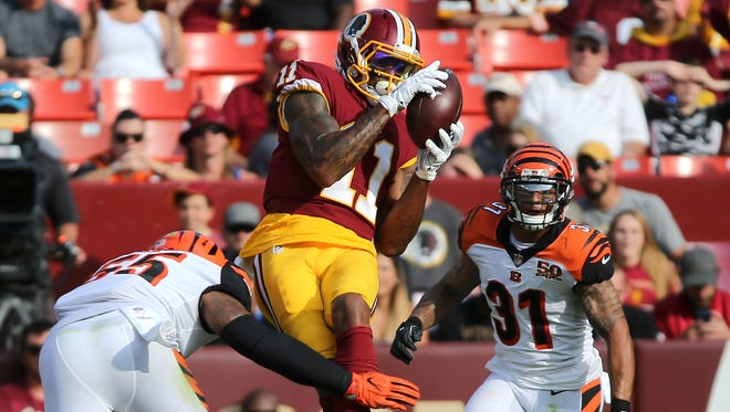 In his first full season as a wide receiver, Terrelle Pryor  caught 77 passes for 1007 yards in Cleveland. His move to Washington this offseason should raise his fantasy status.