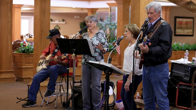 Garn Huntington, Dorothy Huntington, Sue Melton and Franklyn Melton perform as Classic Country Couples on June 2 at Sterling Court in St. George.