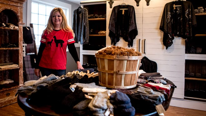 Julie Judge, just opened the Granville Alpaca Station which specializes in yarn sourced from alpacas and clothing items such as sweaters, gloves and scarves.