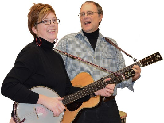 Annie Patterson and Peter Blood_banjo guitar_photo credit Cheryl Edgerly