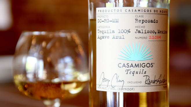 Casamigos tequila by George Clooney, Rande Gerber and Mike Meldman one of several tequilas at Bakersfield in Over-the-Rhine. Local bartenders are saying the popularity of tequila is growing. Bakersfield in Over-the-Rhine has one of the best selections in town.
