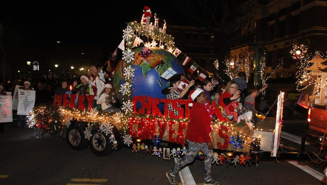 The Clarksville Christmas Parade.
