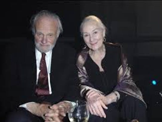 Novelist John Ehle and his wife, actress Rosemary Harris,