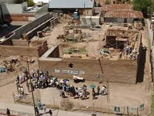 Archaeological excavation at the Presidio site in downtown