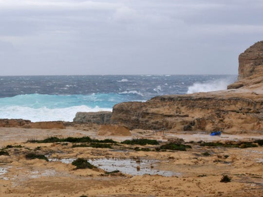 The part of coast where the Azure Window, a natural
