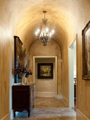 Sherri Matthews of Madison worked with homeowner Tracey Ford to give this barreled hallway a custom texture.