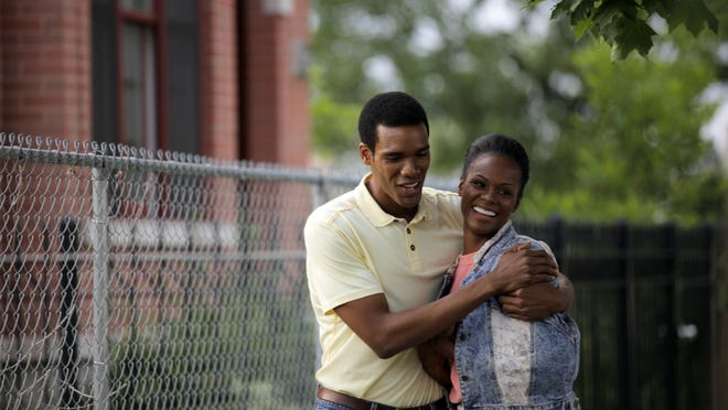 """Tika Sumpter, right, and Parker Sawyers star in """"Southside With You."""""""