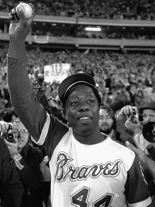 hank aaron Hammerin' hank aaron, a player for the atlanta braves, hit 755 home runs, a record that stood unchallenged until 2007, during his twenty-three-year career in major league baseball.