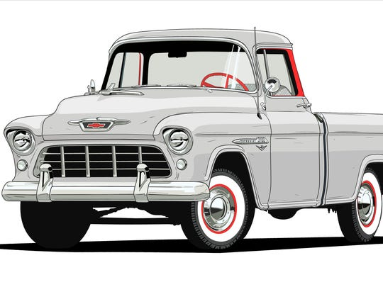 1955 Chevrolet 3124 Series Cameo Carrier