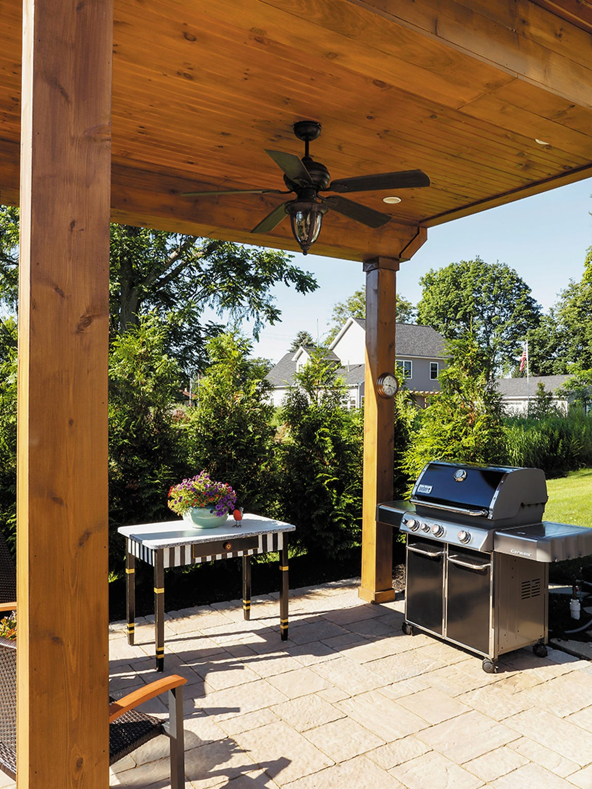 The Muratore's grilling area.