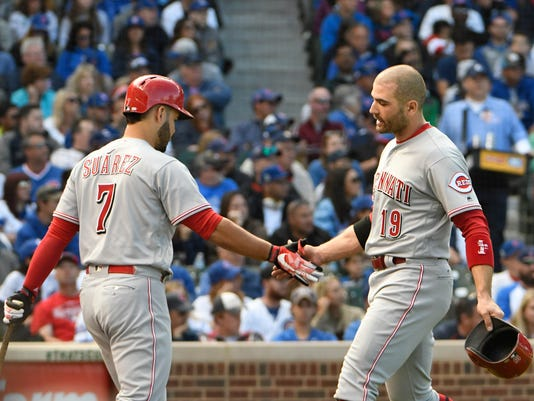 Joey Votto, Eugenio Suarez