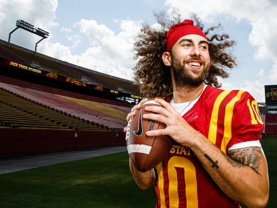 Cyclones quarterback Jacob Park poses for a portrait during media day on Tuesday, August 9, 2016 in Ames.