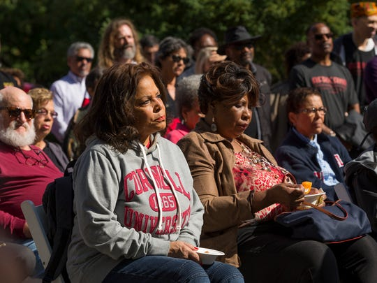 The 2016 dedication of the site of the original Africana building at Cornell University.