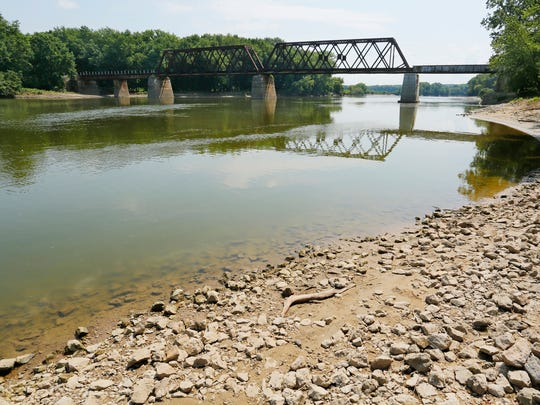 The Wabash River as seen Tuesday, July 10, 2018, from