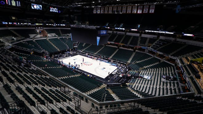 With Bankers Life Fieldhouse viewed as a potential central game venue, Indianapolis city leaders want the college basketball world to know it is open for business.