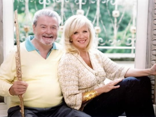 Sir James Galway, left, shown with his wife Lady Jeanne Galway, is known as  the man with the golden flute. The Galways perform St. Patrick s Day at York s Strand-Capitol Performing Arts Center.