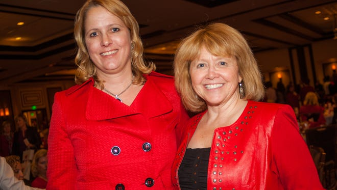 Dawn Ahner and Vice President of Renown Health, Phyllis Freyer during the Go Red for Women Luncheon at the Atlantis.