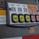 A pump in Lawrence, Kan., with various grades of fuel, including E15, which contains 5 percent more ethanol than the 10 percent norm at most U.S. gas stations.
